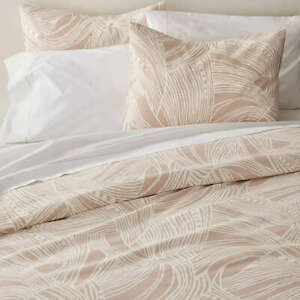 Crate & Barrel Anika Blush Duvet Cover in Full/Queen Cotton, New!