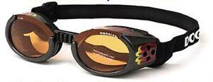 Dog Sunglasses UV - Doggles ILS - Dog Puppy Eye Protection - Racing Flames - L