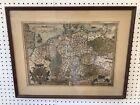 C  1580 Rare Abraham Ortelius Map Of Germania Framed 21 x 26 5