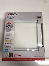 """Satco S9335 Blink 3000K 7"""" Flush Mount LED Fixture 13.5W White NEW"""