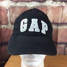 Gap Strapback Cap Black White Coligate Letters S/M