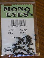 Wapsi Mono Eyes for Fly Tying, size Medium - Black