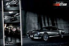 2x AUTO Poster Mustang GT500 Rennwagen Mix Couch Bett Wand Deko ca 61x91 NEU