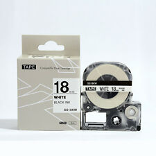 Epson LabelWorks 18mm x 8m Black on White Compatible Label Tape LK-5WBN