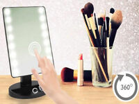 16 LED 10X MAGNIFYING TOUCH SCREEN LIGHT MAKE-UP COSMETIC TABLETOP VANITY MIRROR