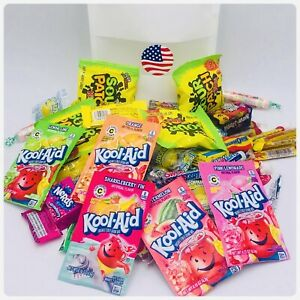 American Sweets Pic N Mix candy Pouch Birthday Gift Present 80 Sweets