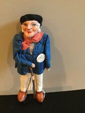 """10"""" Cloth Man Doll by Bernard Ravca Made in France Stockinette Material"""