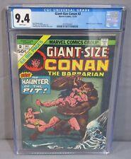 GIANT SIZE CONAN #2 (White Pages) CGC 9.4 NM Marvel Comics 1974 Roy Thomas