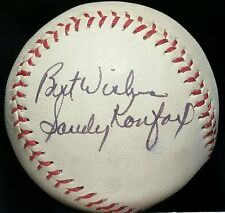 1970s SANDY KOUFAX Single Signed Inscribed Baseball HOF vtg auto Signature