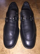 Salvatore Ferragamo Rigel Leather Loafers Size  10 1/2 EE Black Retail $595