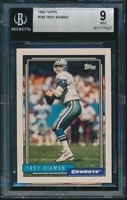 1992 Topps #744 Troy Aikman BGS 9 Mint