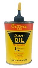 Outers 445 Gun Oil Oiler Oval Can Hunter Dog Yellow Vintage
