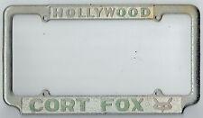 1950's Hollywood California Cort Fox Ford Vintage Dealer License Plate Frame