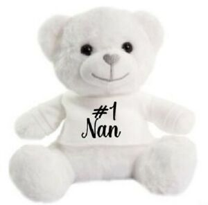 Number 1 Nan Mother day super soft cuddly Christmas gift Birthday Teddy Bear