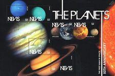 Planètes du Système Solaire Espace timbre feuille (Sun/Mars/JUPITER/SATURN/Neptune)