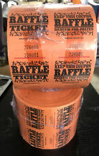 Orange 2000 Double Tickets Roll Numbered Raffle & Keep This Coupon by Amscan