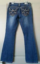 MissChic Distressed Fashion Jeans StyleMC1662C Stud & Crystal Embellished SZ 3