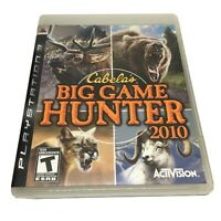 Cabela's Big Game Hunter 2010 (Sony PlayStation 3, 2009) Mint Complete PS3