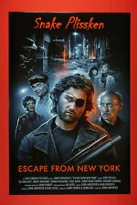 Escape From New York Snake Plissken Kurt Russell Sci-Fi Movie Poster 24X36 Efny
