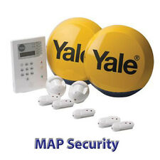 YALE HSA6400 TELECOMMUNICATING WIRELESS ALARM WITH 3 EXTRA DOOR WINDOW CONTACTS!