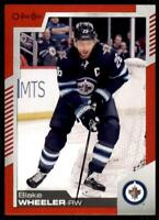 2020-21 UD O-Pee-Chee Red Border #59 Blake Wheeler - Winnipeg Jets