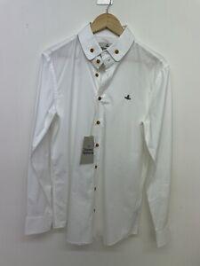 Mens Vivienne Westwood premium regular fit white shirt size IT 50 L UK 40-42 A89