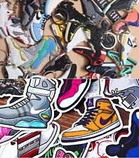 10 Different Shoe Keychains & 10 Shoe Stickers + FREE GIFT - Random Pick Only!