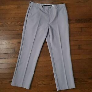 Callaway Golf Pants Bottoms Mens 38 Performance Stretch Gray Sport Flat Front