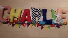 Personalised Letters Fabric/Felt Nursery Baby Childs Bedroom Name Banner Bedroom