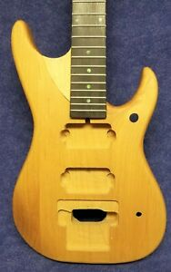 New Unfinished Short Scale Nuno N4 Style Natural Alder Guitar USA Made 2nd