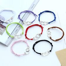 5pcs Handcuffs Bracelets Weaved Adjustable Charm Bracelet For Women Lovers