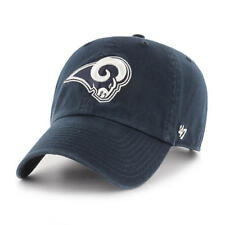 buy popular d8c5e e5e0a Los Angeles Rams 47 Brand Clean Up Hat Adjustable Cap Navy