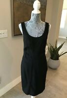 DIANE VON FURSTENBERG BLACK SLEEVLESS DRESS SIZE 10~NWT~ BEAUTIFUL!