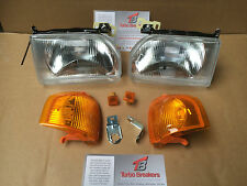 Escort Orion MK4 1986-90 Pair New Headlights & AMBER Indicators & Side lamps RS