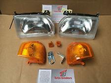 Escort Orion MK4 1986-90 Pair New Headlights & AMBER Indicators & Side lamps RS