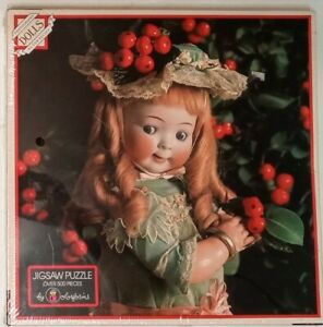 Vintage Christmas Jigsaw Puzzle Colorform Dolls Tom Kelley 500 HOLLY BERRY Seale