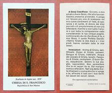 Santino Holy Card: Scultura in legno Chiesa di S. Francesco - Rep. di San Marino