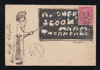 Canada 1903 HAND-ILLUSTRATED KEVII Cover BLUEVALE to Thorndale