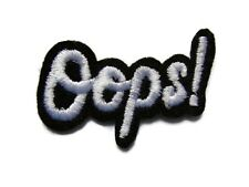 Oops! Accent Word Embroidered Iron On Patch 1.75 Inches
