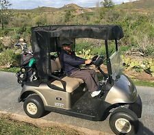 """Golf Cart Mesh Sun Shade for 2 Seater or 4 Seater Roof up to 58"""" in Black"""
