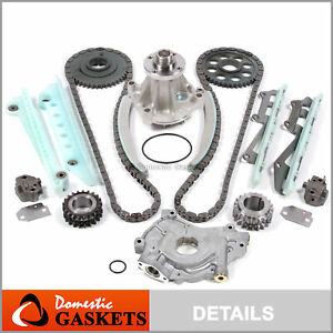 97-02 Ford F-150 Lincoln Mercury 4.6L SOHC Timing Chain Kit Oil Pump Water Pump