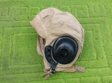 ww2 raf usaaf summer flying helmet size large with recievers verry nice