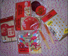 Lot of assorted Chinese party decorations Dragons paper lanterns parasols etc