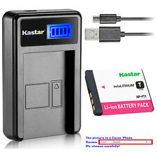 Kastar Battery LCD Charger for Sony NP-FT1 FT1 & Sony Cyber-shot DSC-T5/R Camera
