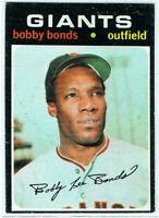 1971 Topps Bobby Bonds #295 Baseball Card San Francisco Giants Excellent! Nice!