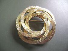 Vintage Goldtone Textured Multi- Circle Brooch