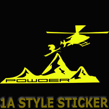 Powder ski Freestyle STICKER 20cm SKI POWDER HELISKING SKI LIFESTYLE SKI STYLE