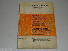 Ersatzteilliste Teileliste Kreidler Mofa Moped MF 4 MP 1 MF4 MP1, Stand Dez.1971
