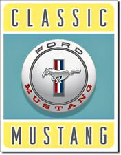 """CLASSIC FORD MUSTANG""  Tin Metal Sign"