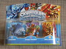 Skylanders 3 Packs: Whirlwind, Double Trouble, Drill Sergeant   *Factory Sealed*